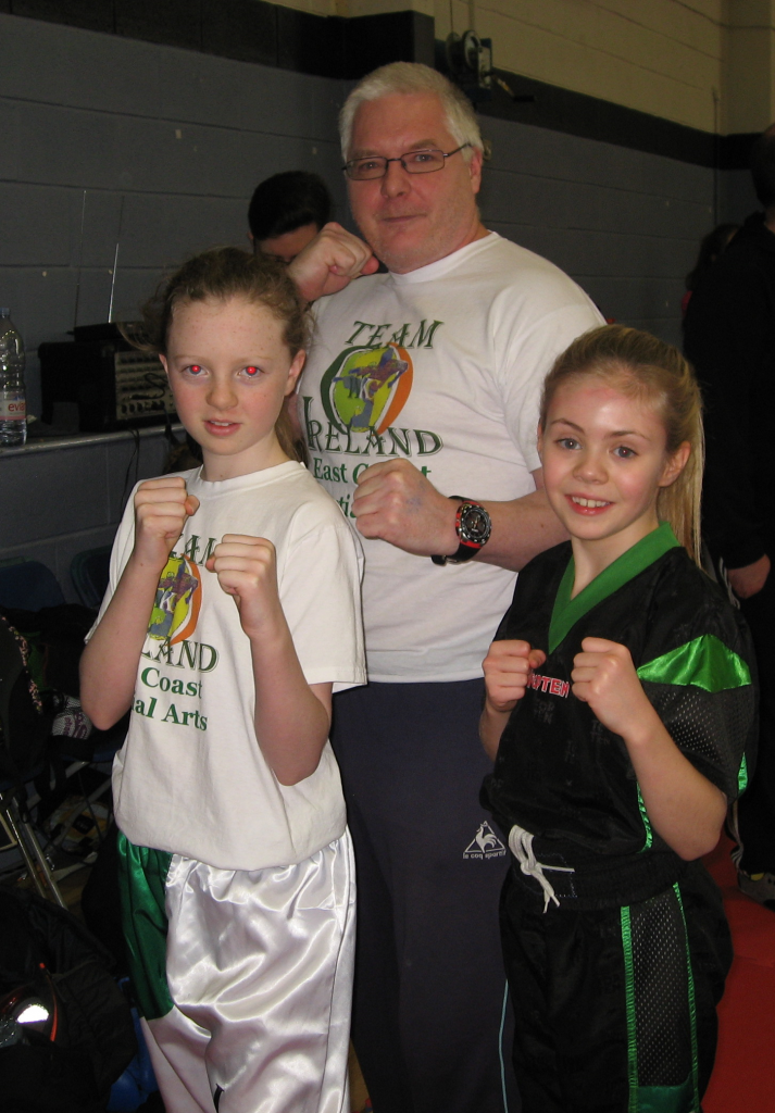 Brendan Donnelly Karate Mollie and JJ golden dragon
