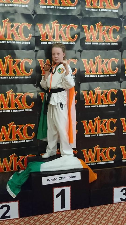 Mollie Carolan WKC World Championships wins Bronze