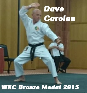 Bronze for Dave with Sensei Brendan Donnelly