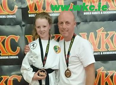 Mollie and Dave Carolan Bronze medal winners. Sensei Brendan Donnelly