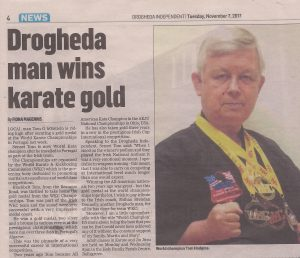 Shihan Brendan Donnely article about WKC Drogheda