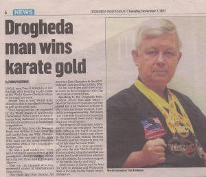 Shihan Brendan Donnely article about WKC Drogheda