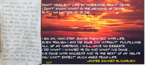 MASTER RICHARD BLACKBURN Muay Thai, ispirational quote tribute by Sensei Brendan Donnelly