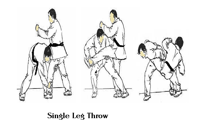 single leg throw