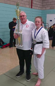 Brendan Donnelly with his student Mollie Carolan.